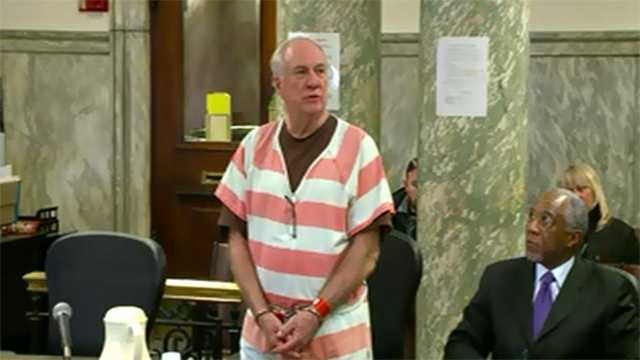 Vernon Huser at his sentencing hearing on Feb. 25.
