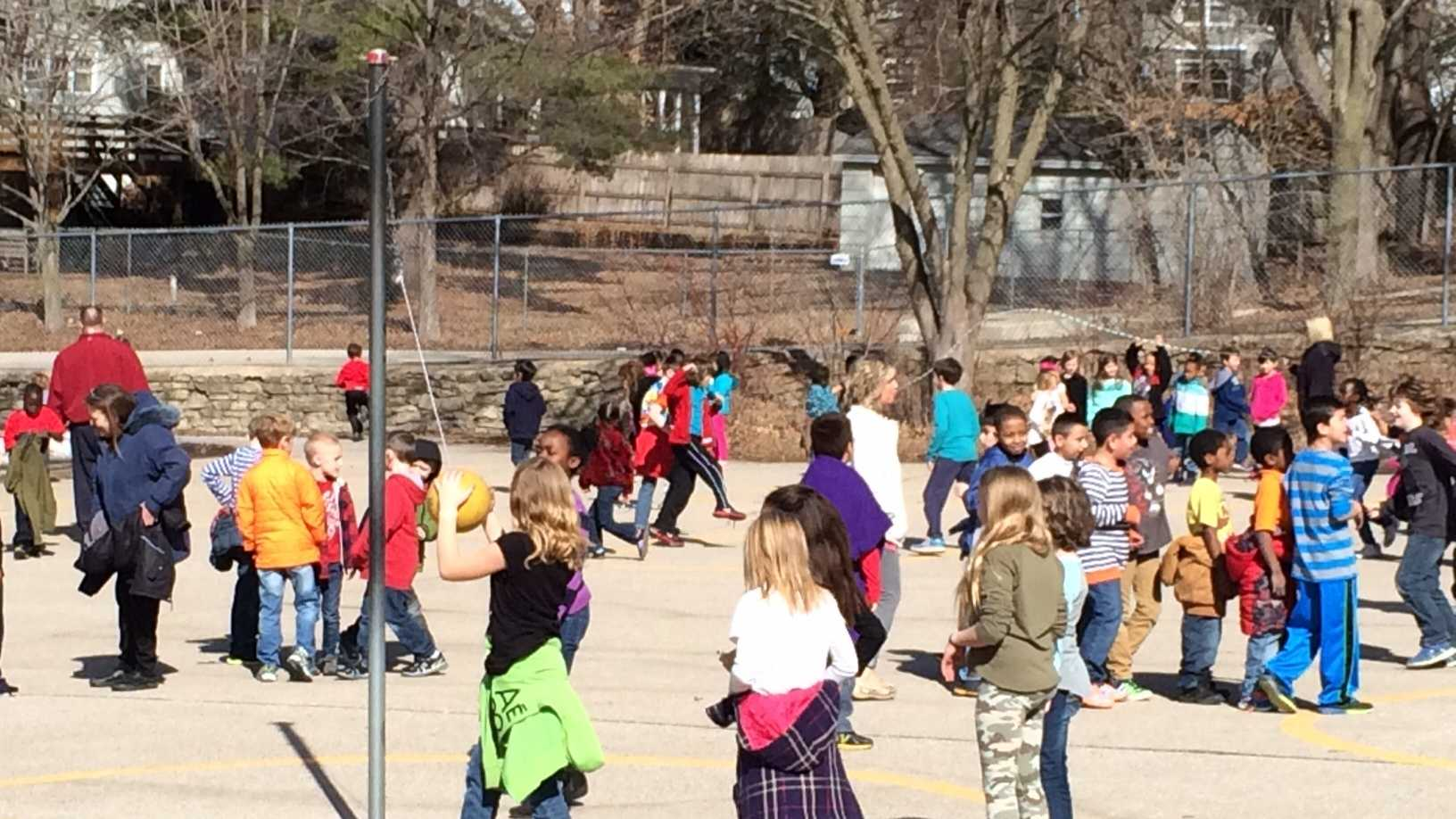 nice weather warm playground school