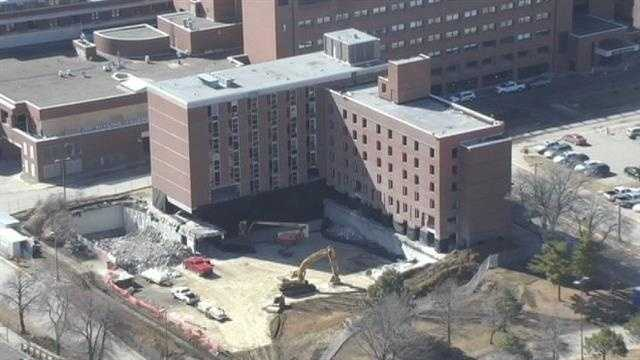 implosion hospital building 1