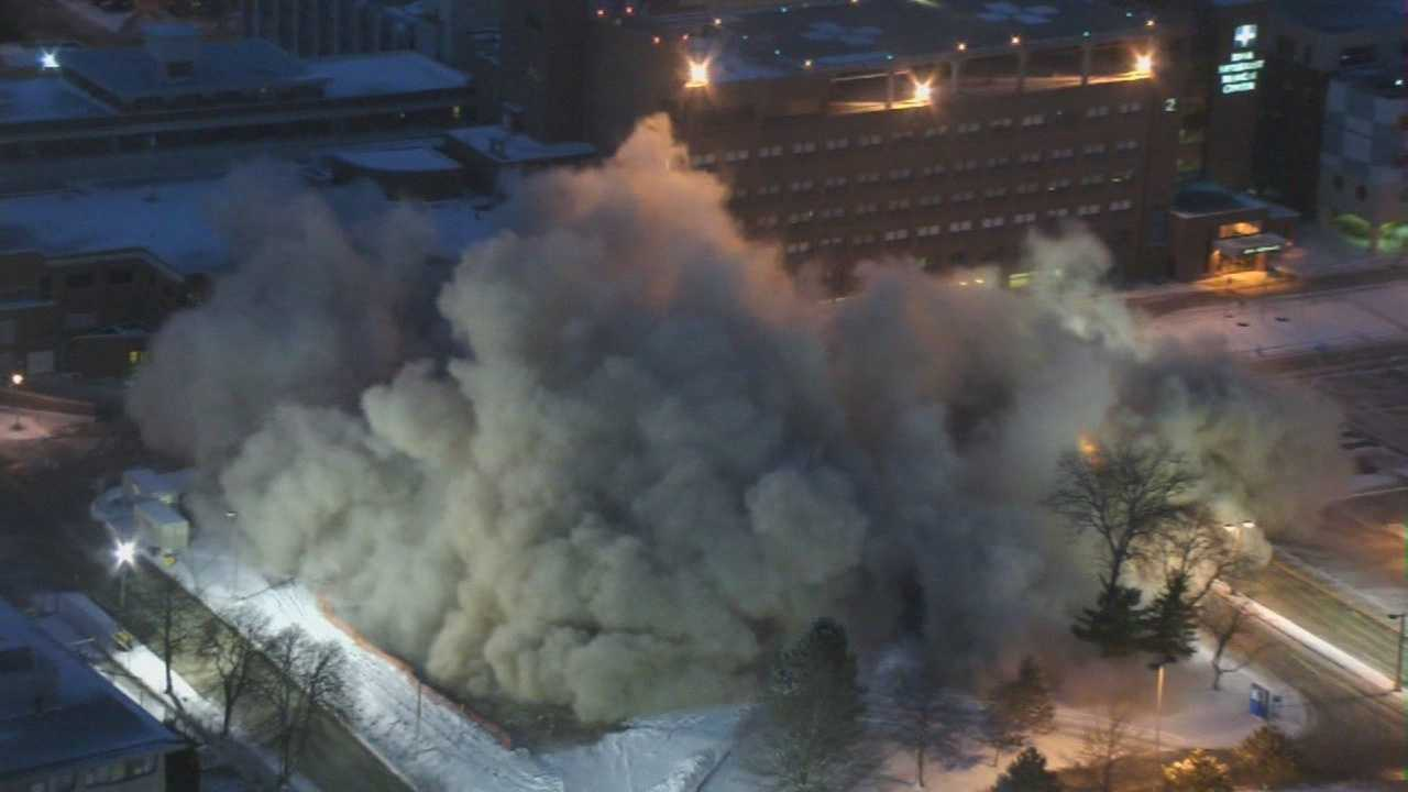 Watch the old nursing school building at Methodist Medical Center be imploded