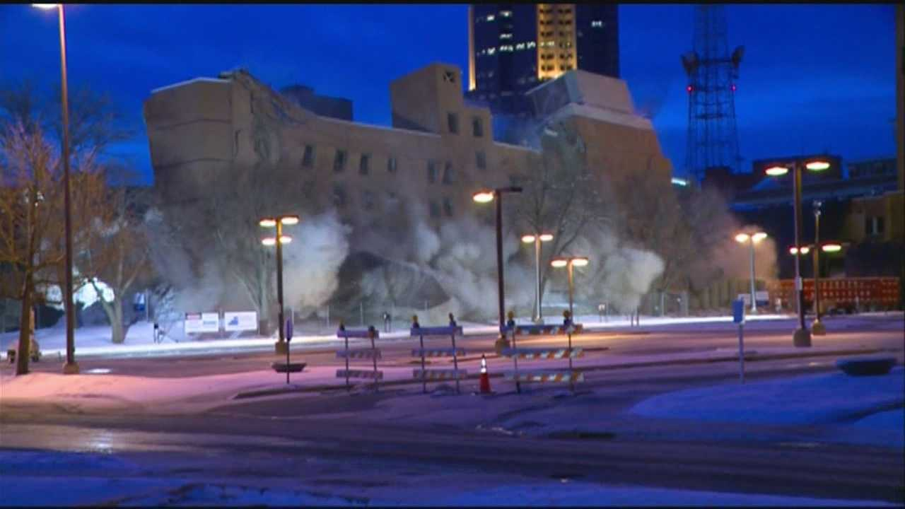 More views of nursing building implosion