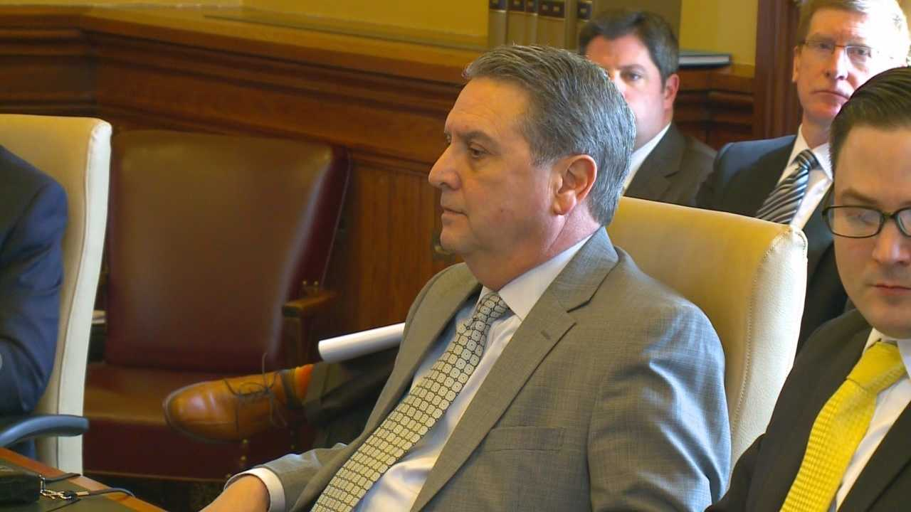 The Iowa Secretary of State's office held a hearing Wednesday to decide if Democrat Tony Bisignano can run for state Senate after his third conviction for drunken driving.