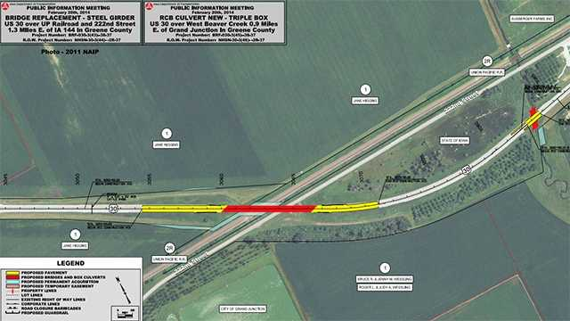 Meeting Planned On Coming Highway Detour - Us highway 30 map