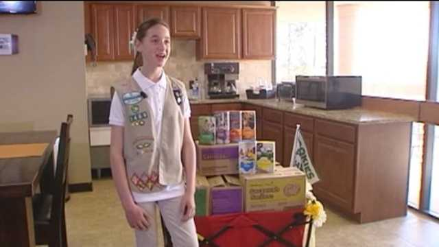 Girl Scout breaks cookie sales record