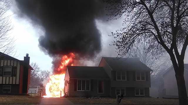 Garage fire in Des Moines
