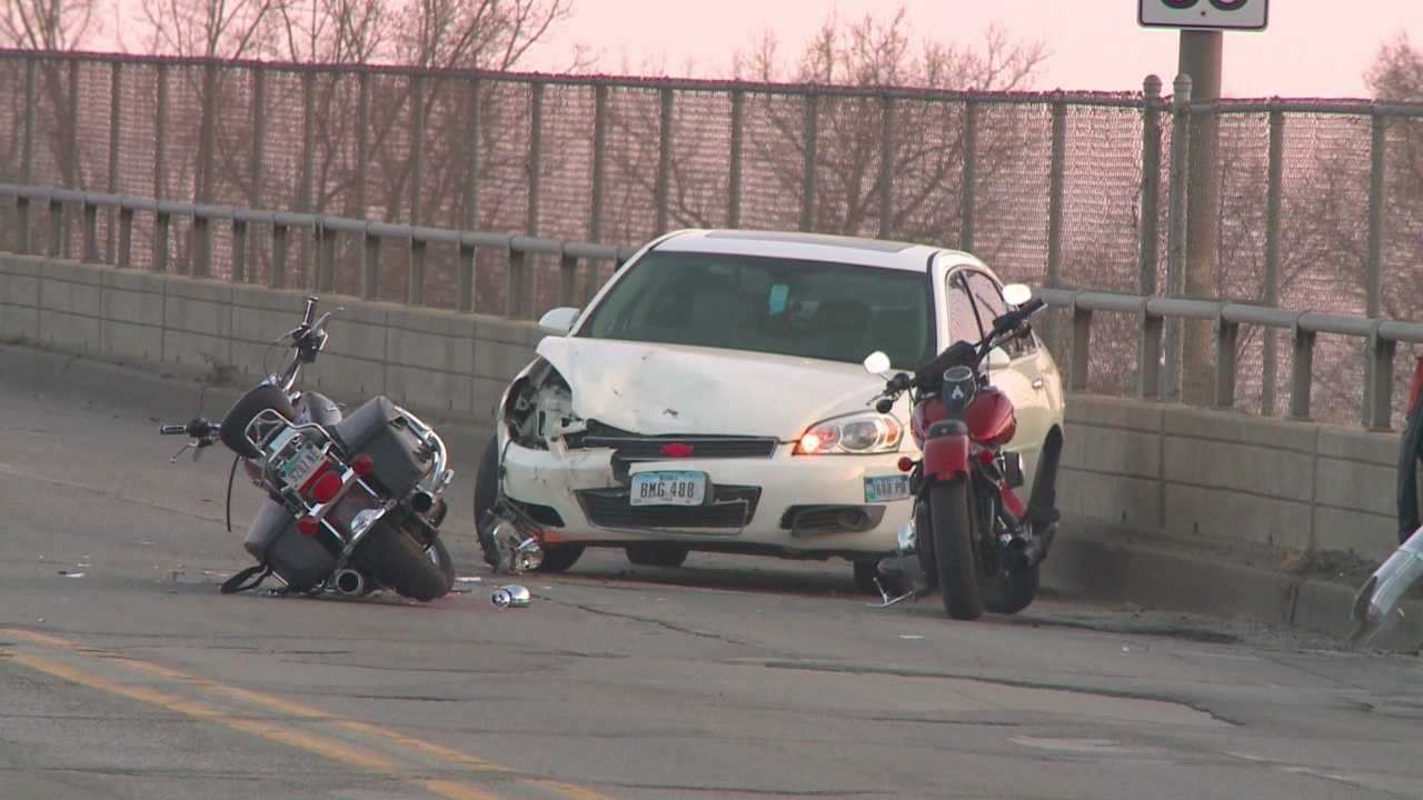 A motorcyclist is still in critical condition after being hit by a suspected drunk driver.