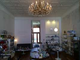 The Tea Room chandelier is now at Eden, a shop in the East Village, as well as other memorabilia.