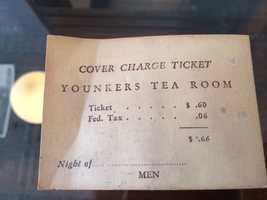 A ticket from the Tea Room.