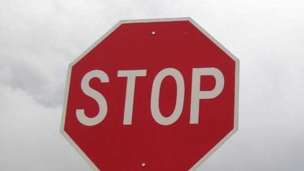 Stop sign traffic sign
