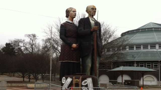 American Gothic at Iowa State Fairgrounds