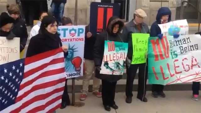 deportation rally