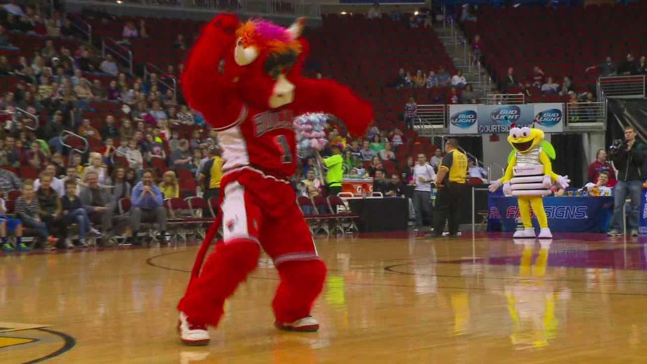 Benny the Bull had reason to party as Iowa stormed into the postseason with a record-setting evening.