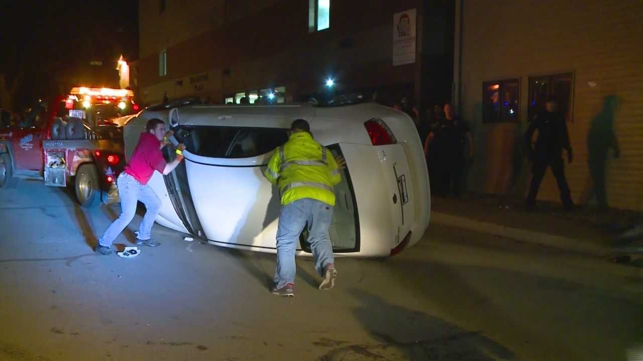 One student was seriously injured by a falling light pole during rioting in Ames during a VEISHEA celebration.