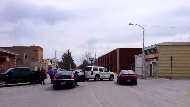 Bomb threat reported in town of Hills, Iowa, which is just south of Iowa City.