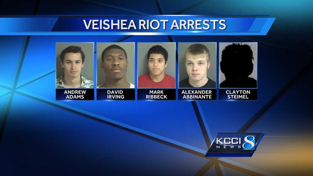 Five people are charged in connection with the VEISHEA riots.