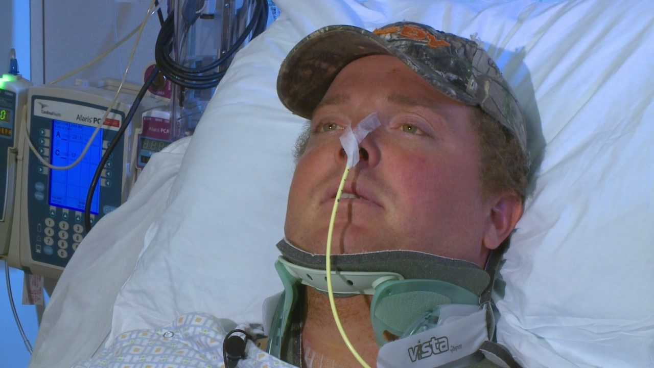 A man's challenge to help the Plunge for Landon movement turned into a fight for his life last week.