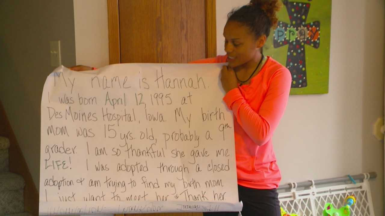 A picture and social media have helped a Des Moines woman find her birth mother.