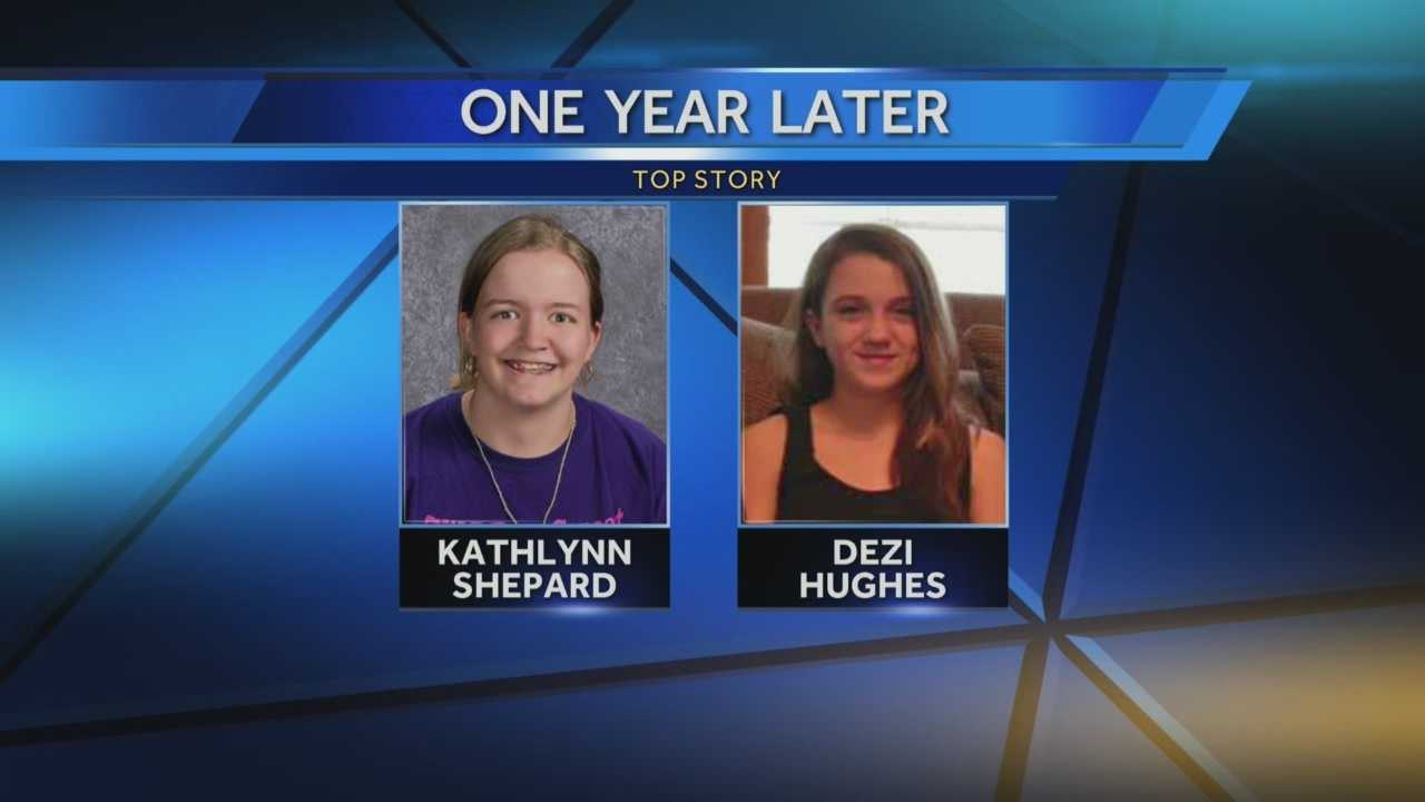 Tuesday marks one year since Kathlynn Shepard and 12-year-old Dezi Hughes were abducted on their way home from school in Dayton.