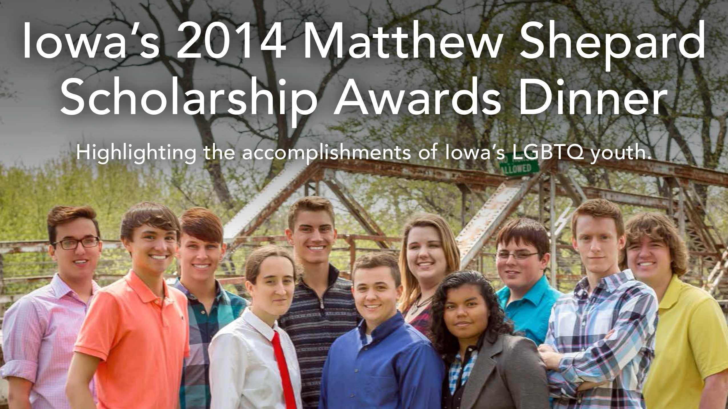 LGBTQ students honored during Iowa's Matthew Shepard Scholarship Dinner