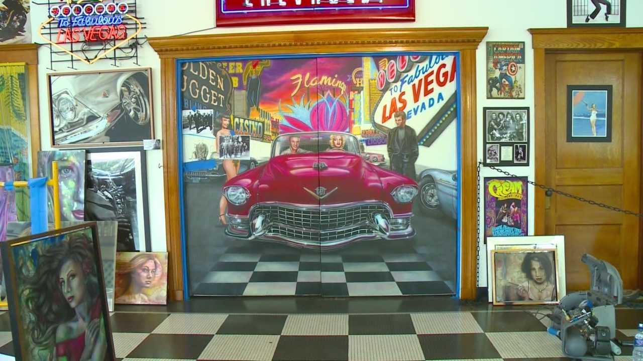 Mollie Cooney sits down with artist Mike Dennis in a unique gallery, American Dream Machines in Des Moines.