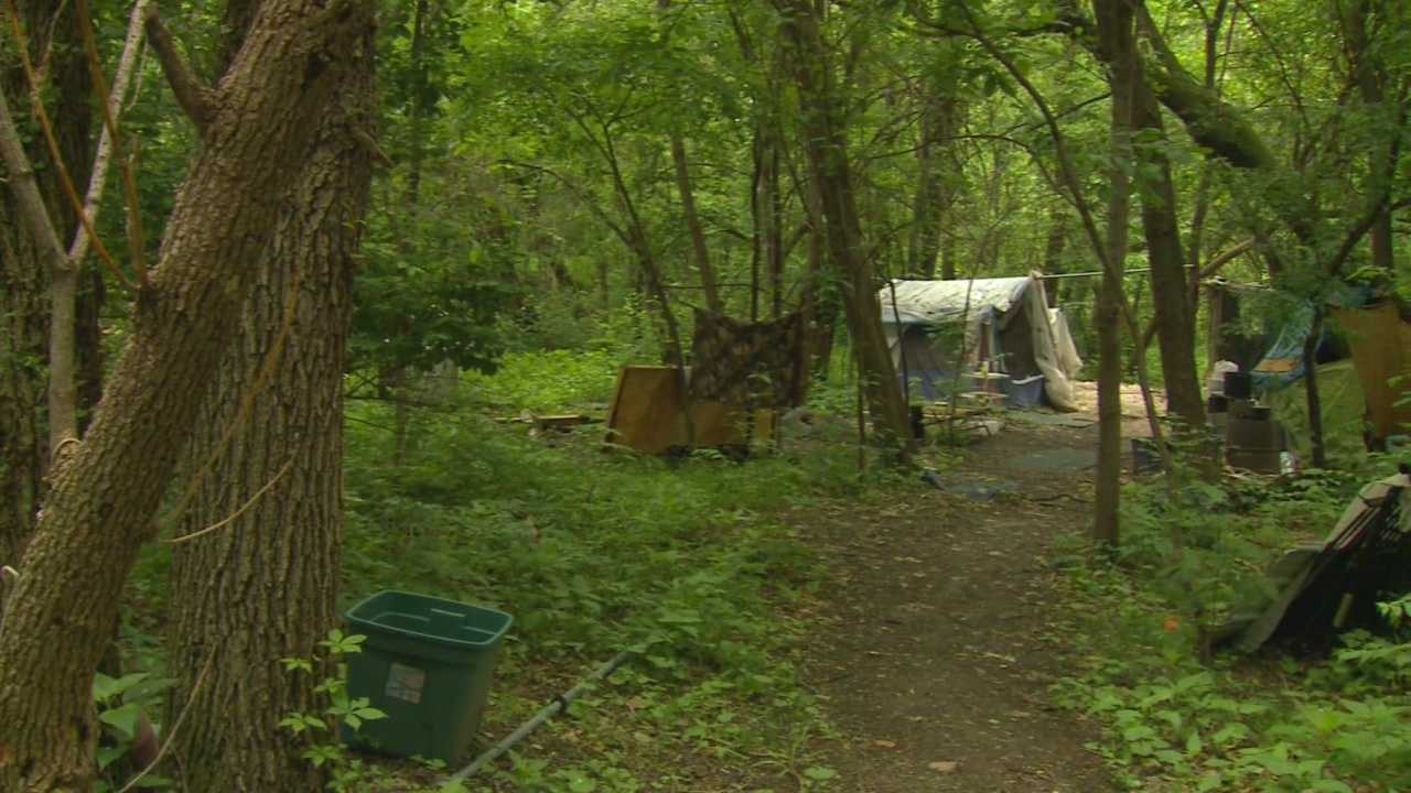City employees posted fliers more than a week ago along trails near the Des Moines River and Euclid Avenue stating that homeless camps must be removed or the city will dispose of the property.