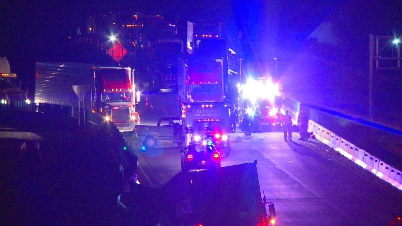 Crews spent several hours overnight at a serious crash that closed Interstate 80 at Altoona.