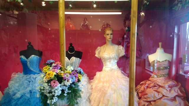 Wedding dresses swiped from local shop