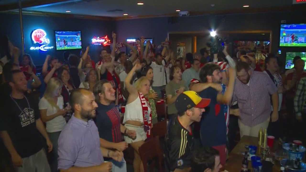 World Cup fever is upon us as fans gather at the Keg Stand Watch Party for team USA.
