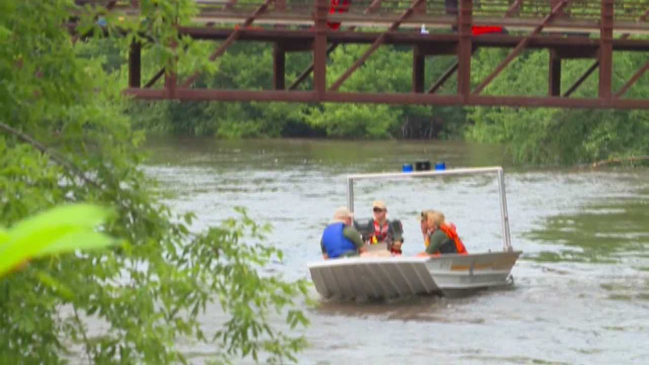 The Story County dive team was called to an Ames park on Wednesday afternoon after a man went missing in a river.