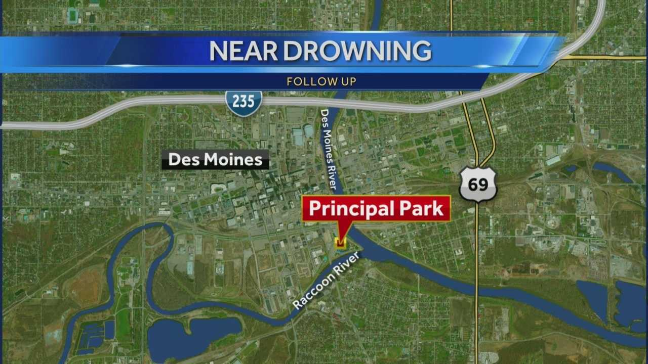 A man who was rescued in the Des Moines River Saturday has died.