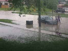 Street flooding in Indianola