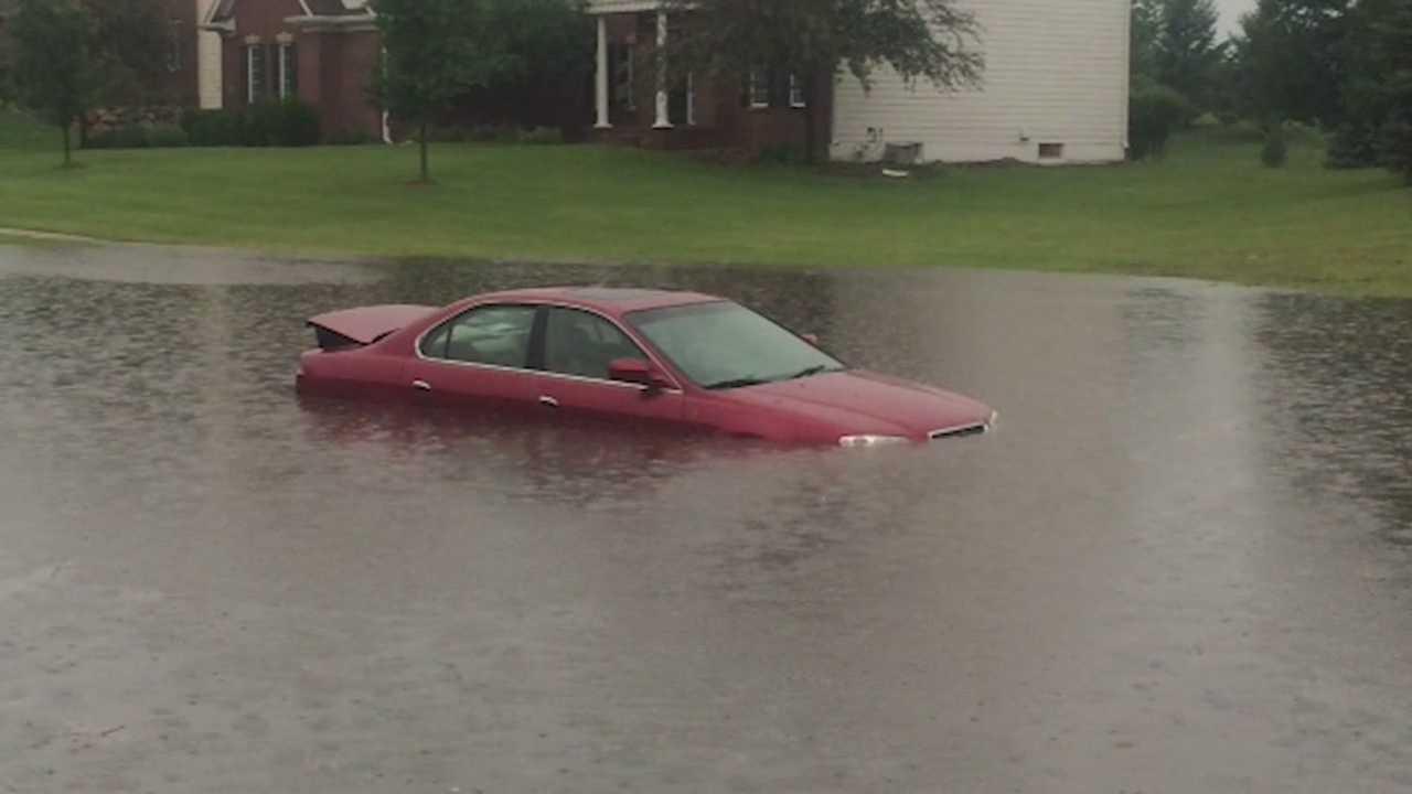 Walnut Creek flooding in June 2015.