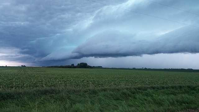 Storm near Callender, Iowa, on Monday morning