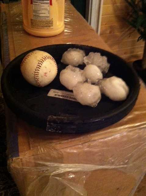 Hail image from Stratford on June 30th