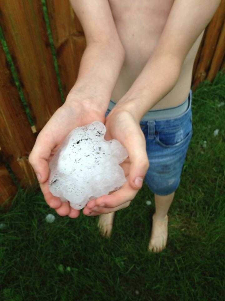 Hail in Rockwell City