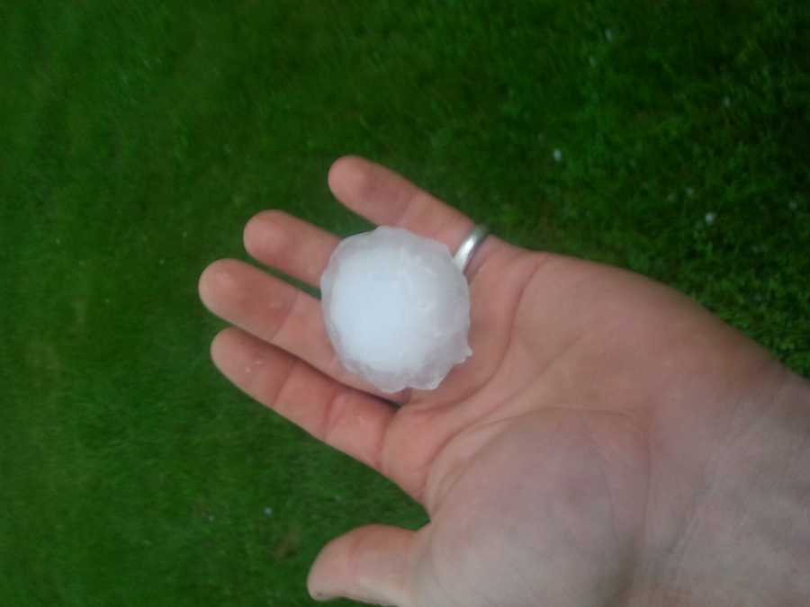 Hail from Ave C in Fort Dodge
