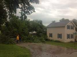 Storm damage in Zearing, Iowa