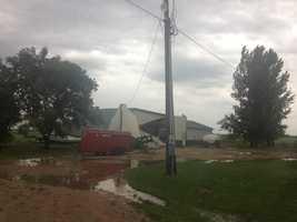 Storm damage near Zearing