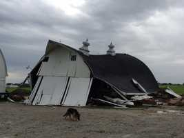Barn near Story City destroyed