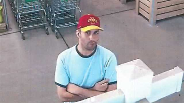Man wanted in connection with theft case at Menards.