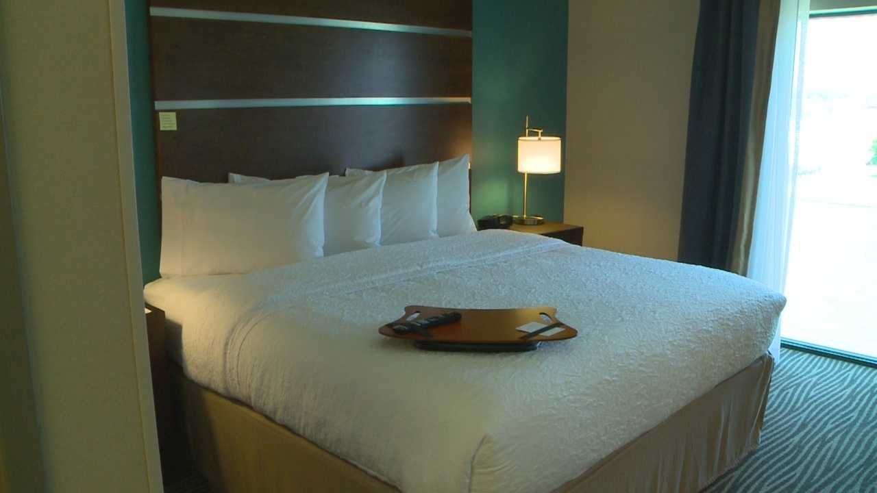 Two hotels on the Des Moines River in downtown open to the public.
