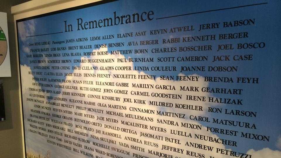Flight 232 crash memorial
