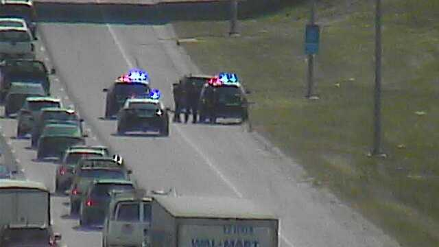 Officers stop vehicle along I-235