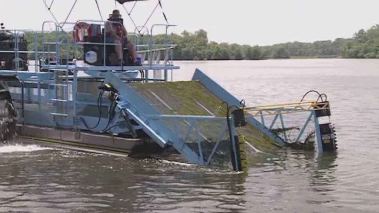DNR uses underwater lawnmower to clean up lake