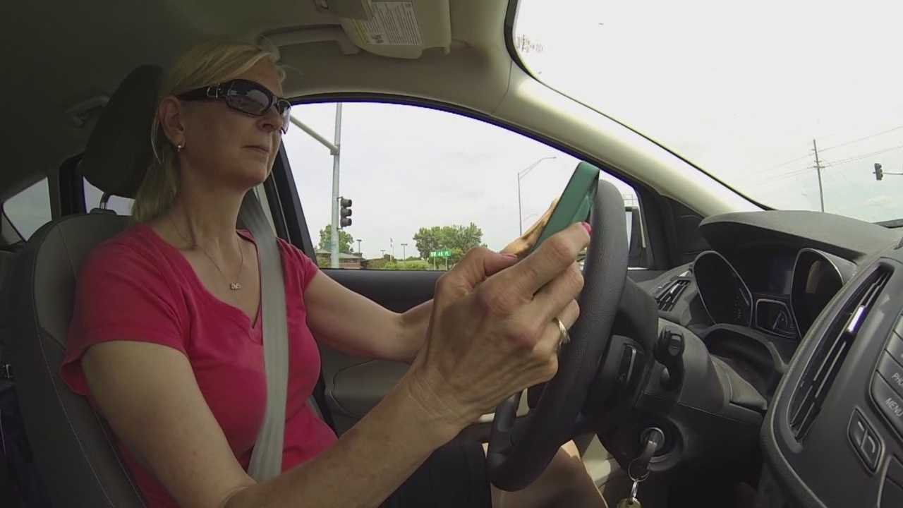 The number of crashes attributed to distracted driving is increasing in Iowa.