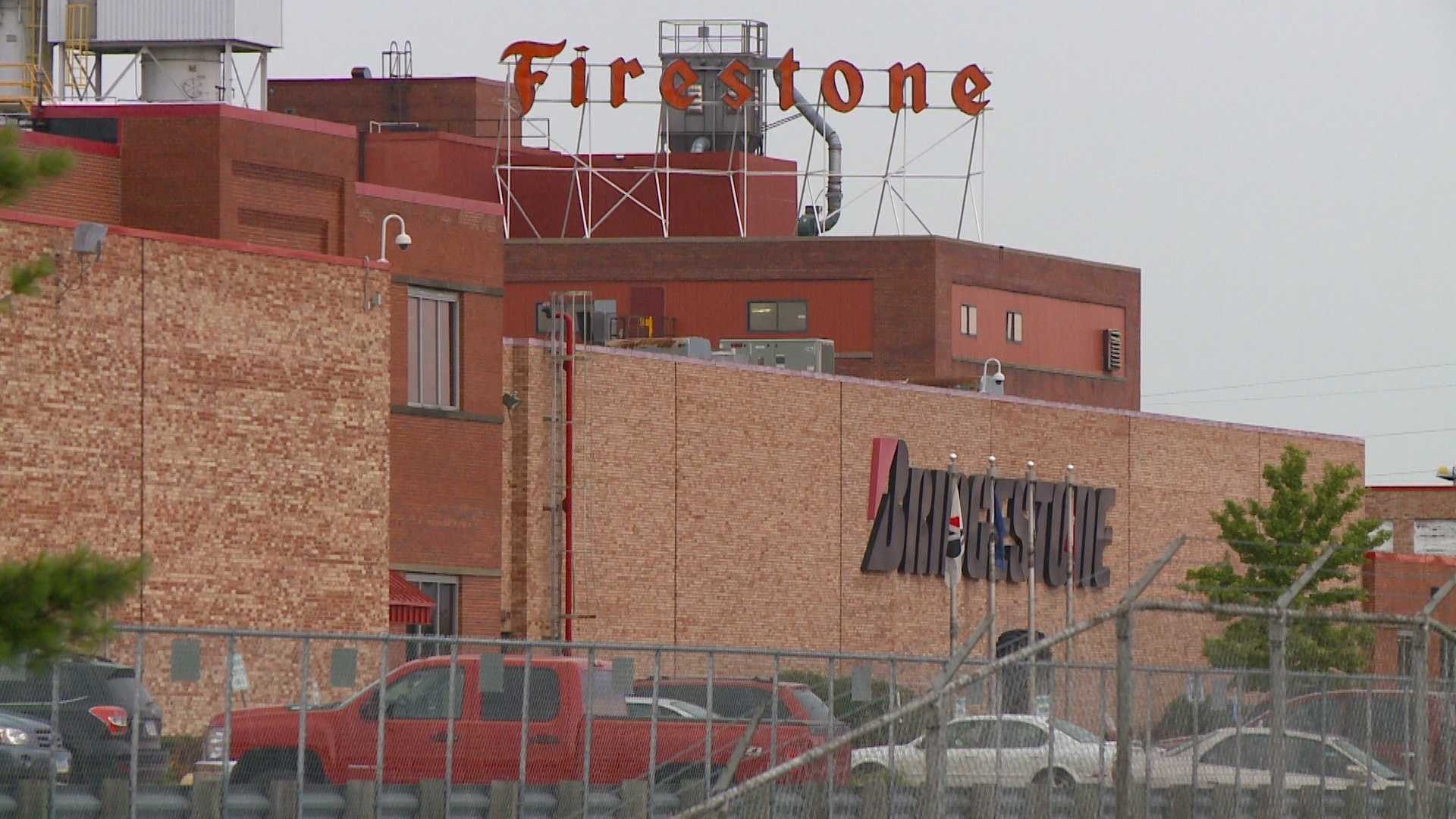 A mid-February machine accident at Bridgestone-Firestone resulted in a maintenance worker suffering an amputation.