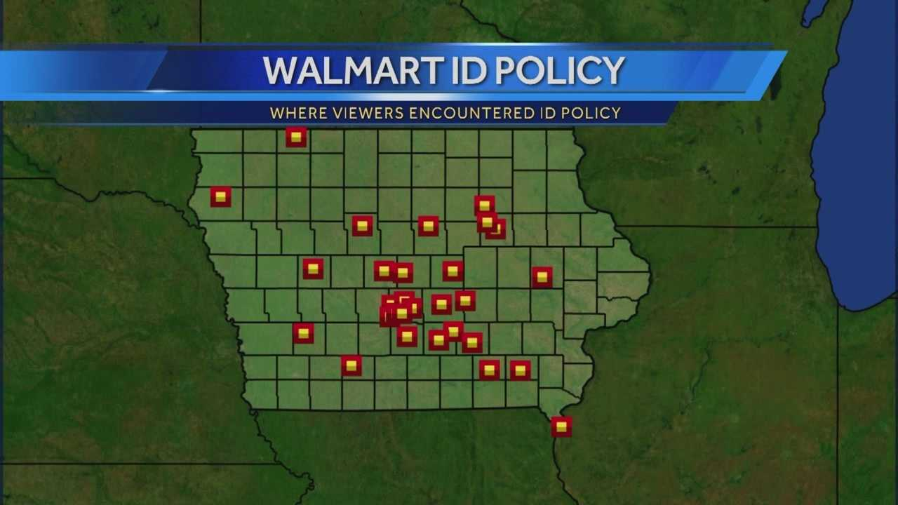 Based on the more than 600 comments from our viewers and Facebook fans, the same ID dispute has happened to people in 28 Iowa Walmarts and six other states.