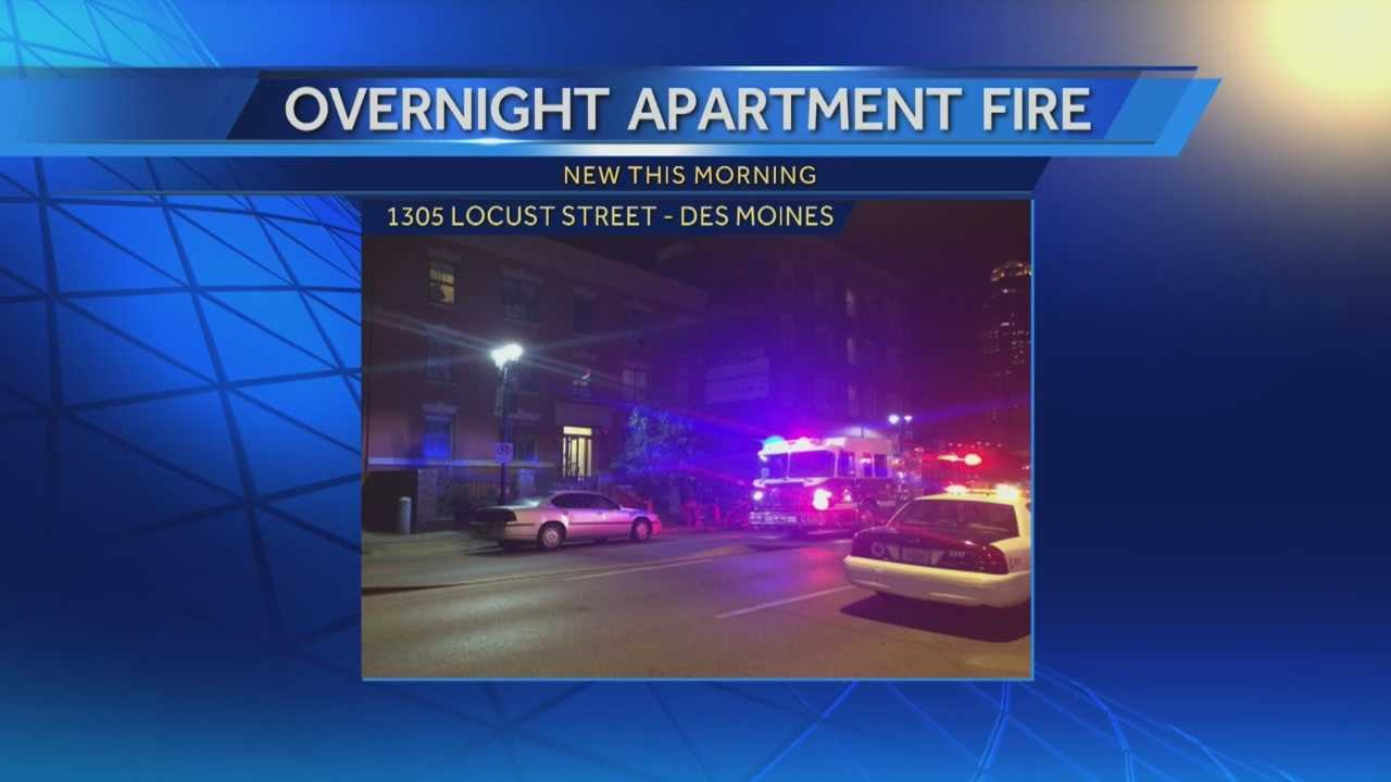 An overnight fire forced residents out of their apartment and closed downtown streets.