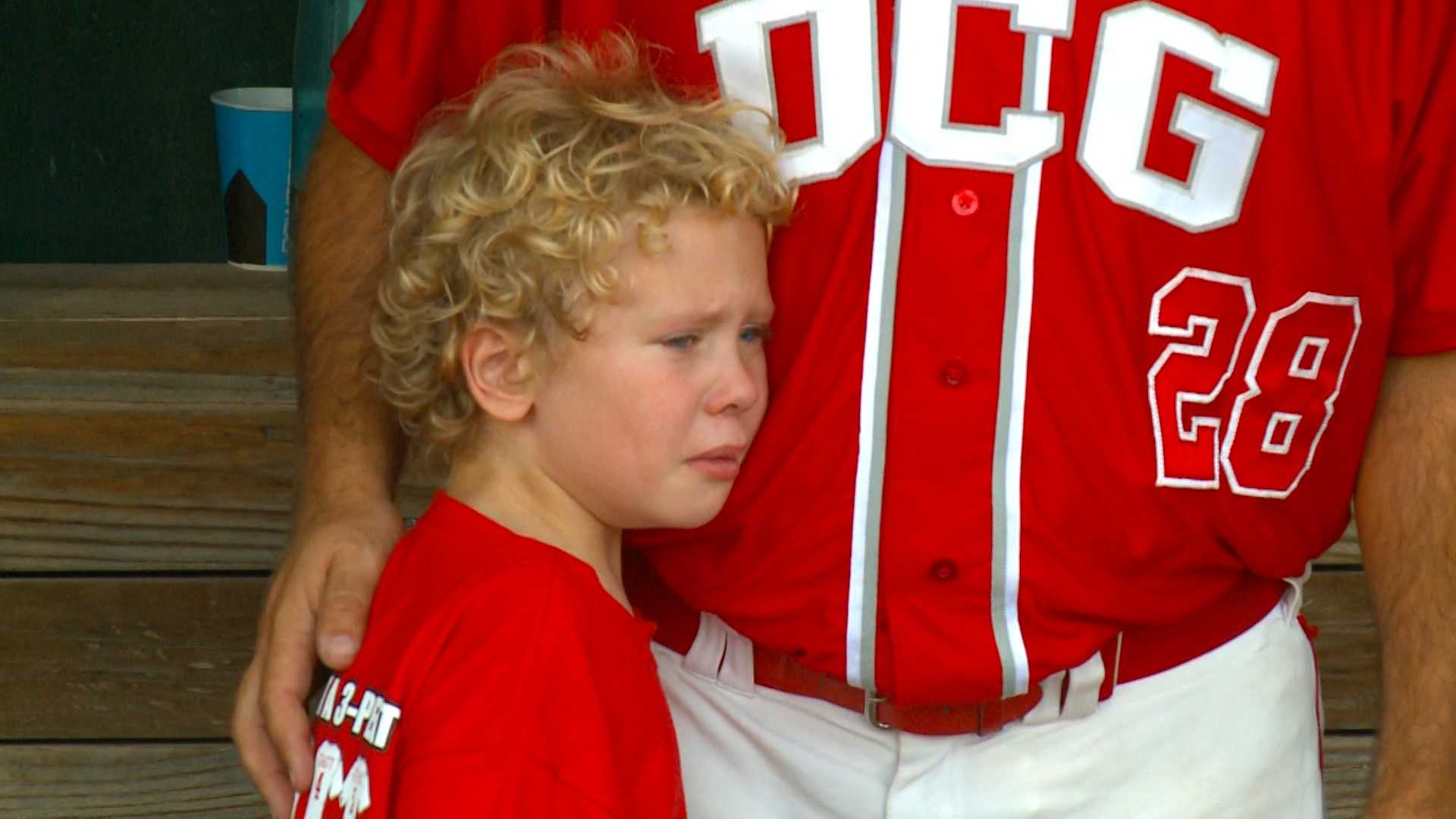 This youngster in the DCG dugout could only watch as his Mustangs came painfully close to a title.