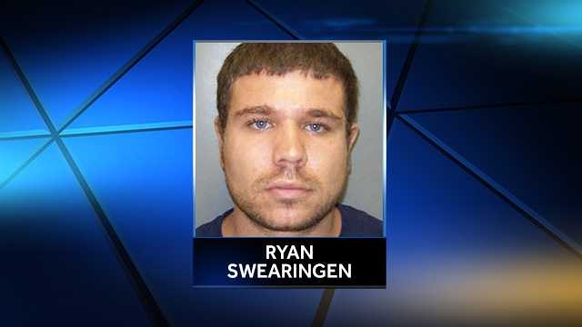 Ryan Swearingen, 27, was shot and killed by an officer Sunday after he waved a knife, according to police.